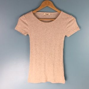 MADEWELL • Ribbed COTTON Blend T shirt XS .